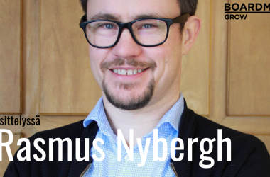 """Boardman Grow hallituksen jäsen Rasmus Nybergh: """"Kasvuyrittäjänä on pystyttävä vaihtamaan hattua lennosta"""""""