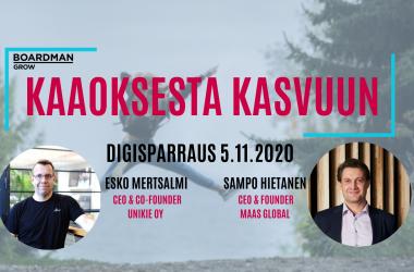 """LOISTAVIA KASVU- JA KANSAINVÄLISTYMISTARINOITA SUOMESTA- """"PITÄÄ YRITTÄÄ USKOA ITSEENSÄ!"""""""